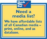 Canadian media lists