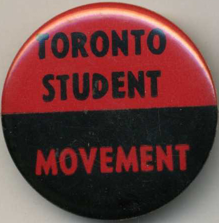 Toronto Student Movement button