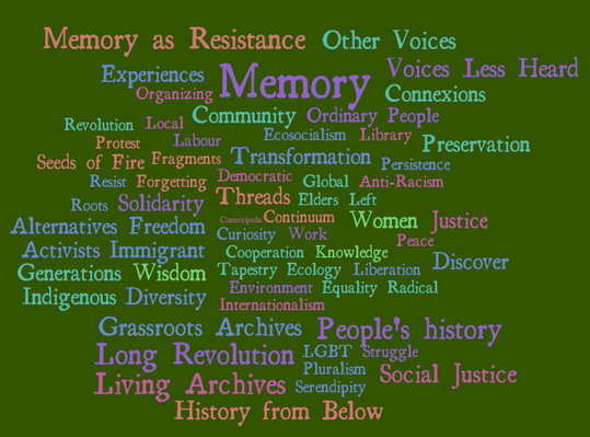 Memory Resistance Grassroots Archives People's History