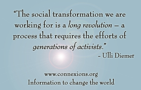 Ulli Diemer: The social transformation we are working for is a long revolution - a process that requires the efforts of generations of activists.